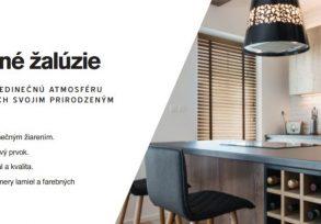Žalúzie interiérové horizontálne- DREVOLUX